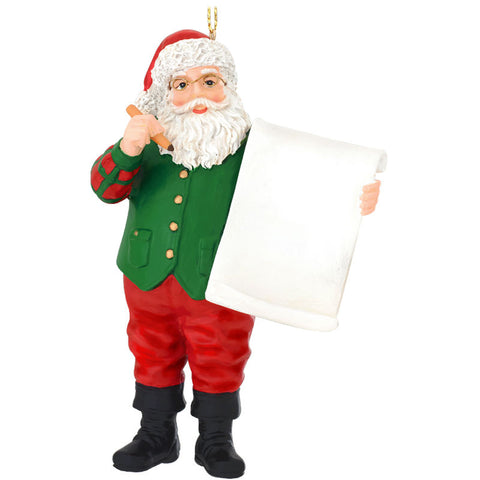 Santa Claus Wish List Ornament