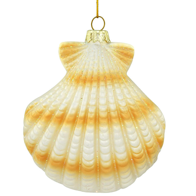 Scallop Shell Glass Ornament 1196840