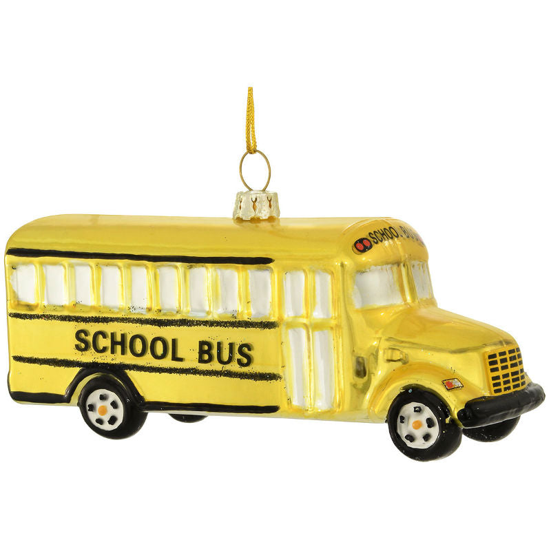 School Bus Glass Ornament 1187892