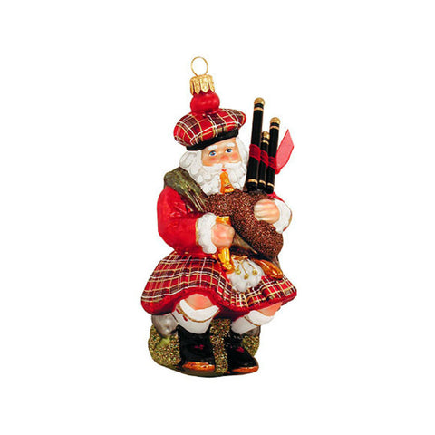Scottish Bagpipes Santa Claus Ornament
