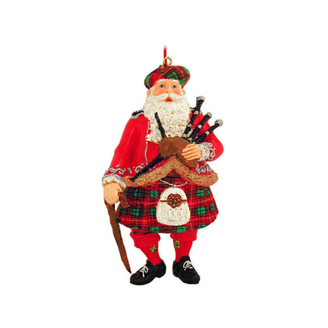 Scottish Santa Claus Ornament