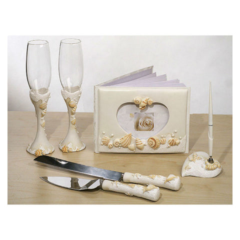 Seashells Bridal Accessories Set