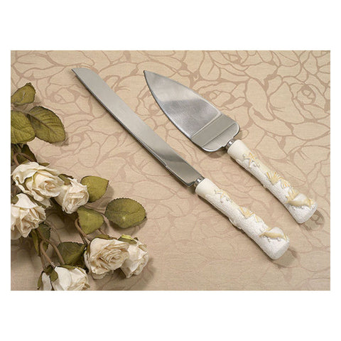 Seashells Cake Knife Serving Set