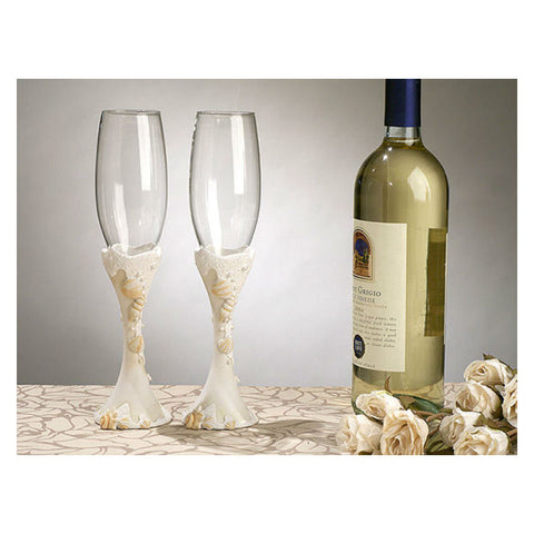 Seashells Toasting Glasses