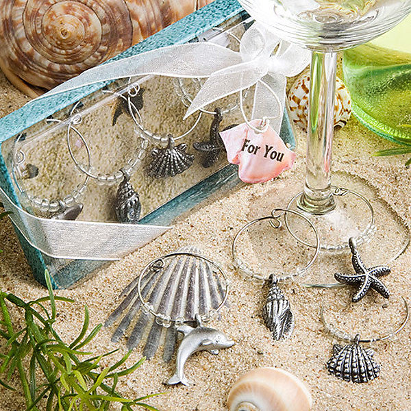 Seashells Wine Glass Charms 1723