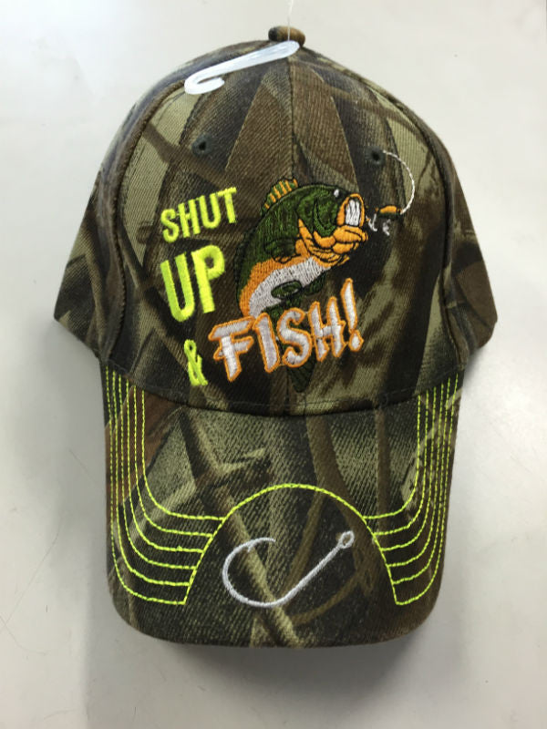 Shut Up And Fish Camo Cap CP281