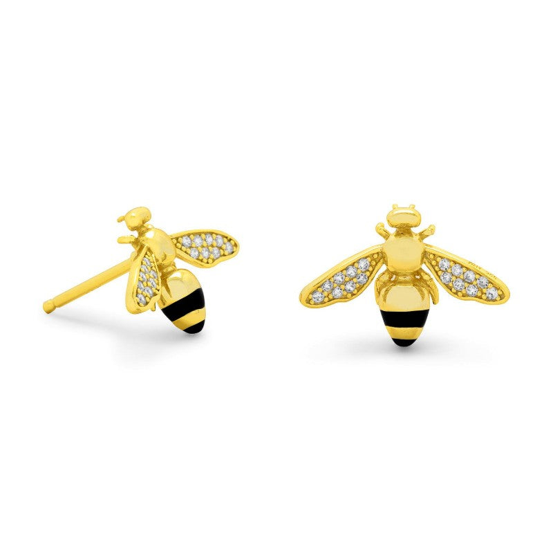Signity BEE Mine CZ Earrings 66157