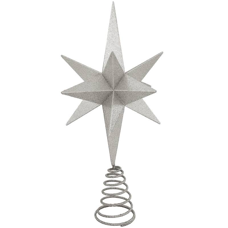Silver Star Christmas Tree Topper 1208784