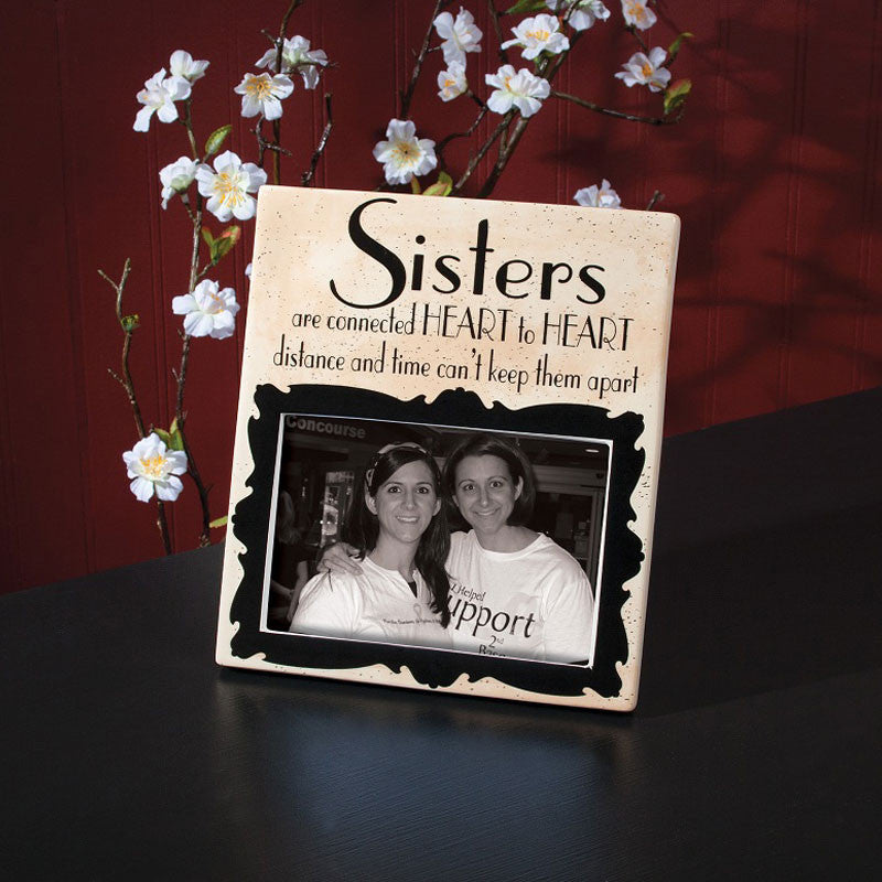 Sisters Stoneware Photo Frame 35802