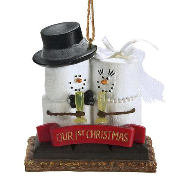 S'Mores Bride & Groom 1st Christmas Ornament 921869
