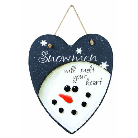 Snowmen Will Melt Your Heart Slate Plaque