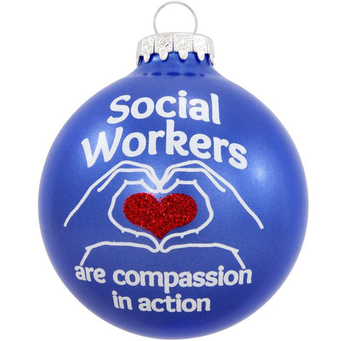 Social Workers Compassion Glass Ornament