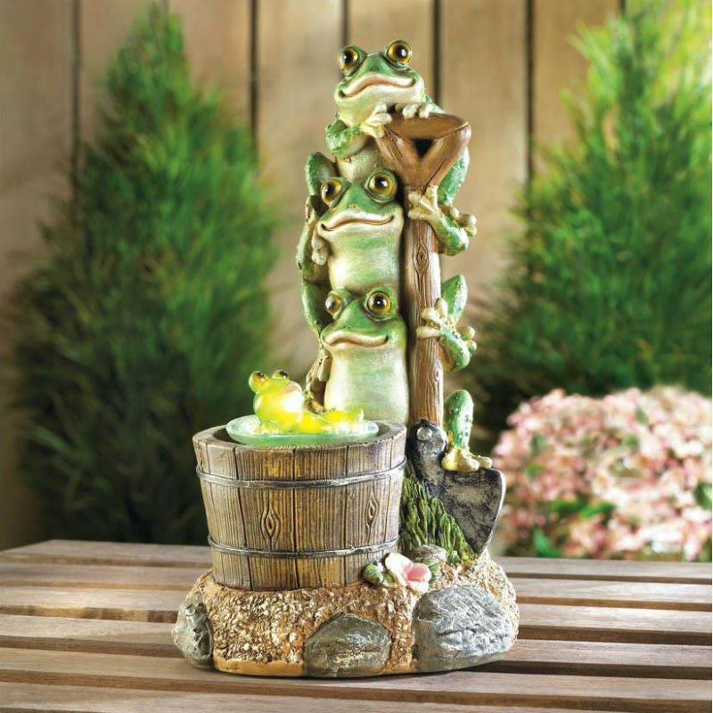 Solar Powered Rotating Frog Figurine 10017855