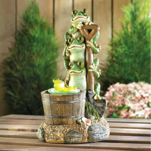 Solar Powered Rotating Frog Figurine