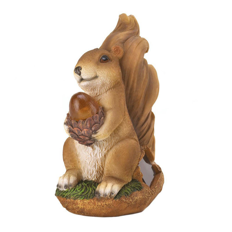 Solar Powered Squirrel Statue 10016219