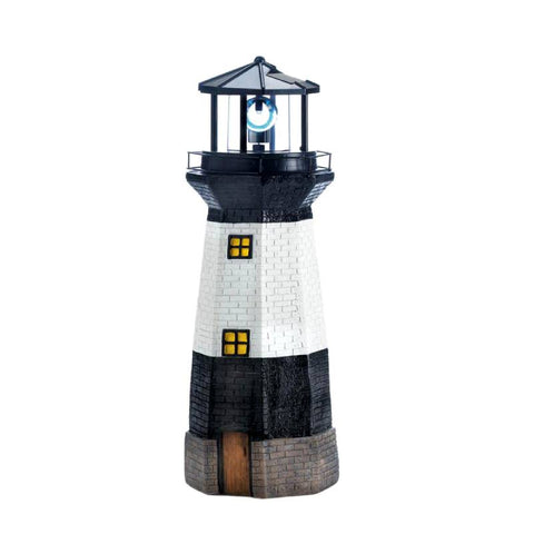 Spinning Solar Powered Lighthouse Figurine