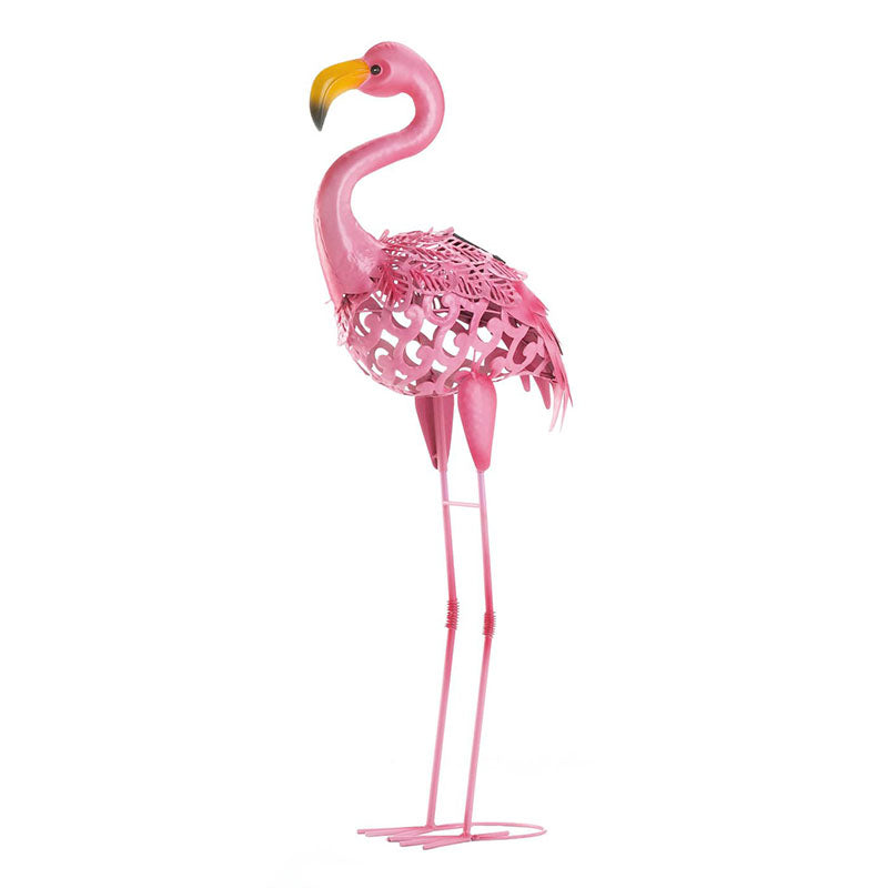 Standing Tall Solar Powered Flamingo Yard Sculpture 10018932