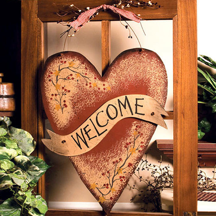 Star Garland Heart Welcome Plaque 31676