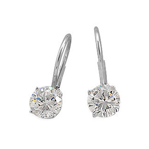 Cubic Zirconia Lever Back Earrings 64192