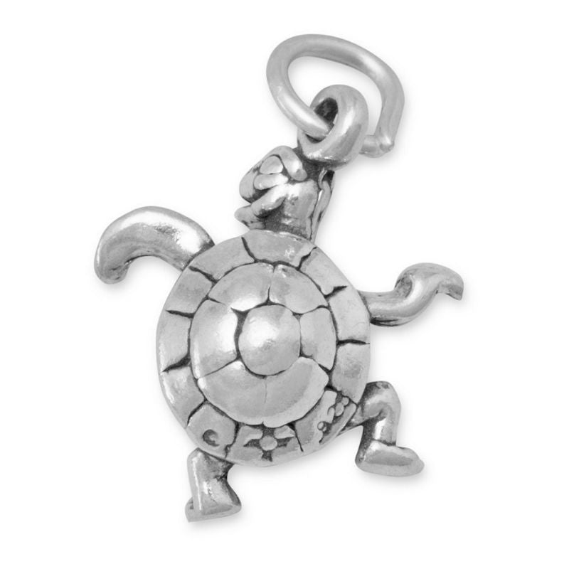 Sterling Silver Dancing Turtle Charm 5904