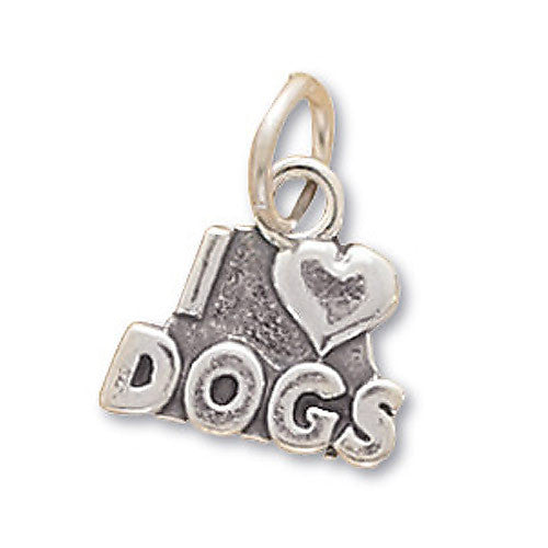 Sterling Silver I Love Dogs Pendant 73093