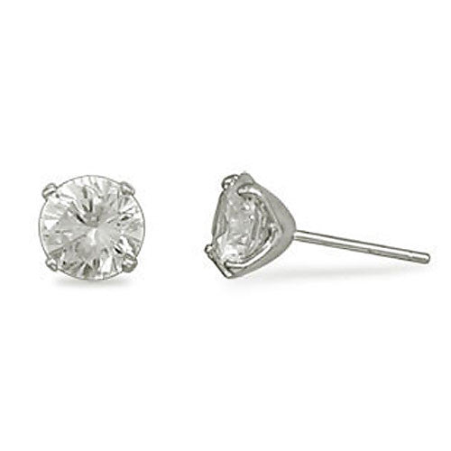 Round 6mm Cubic Zirconia Earrings 64196