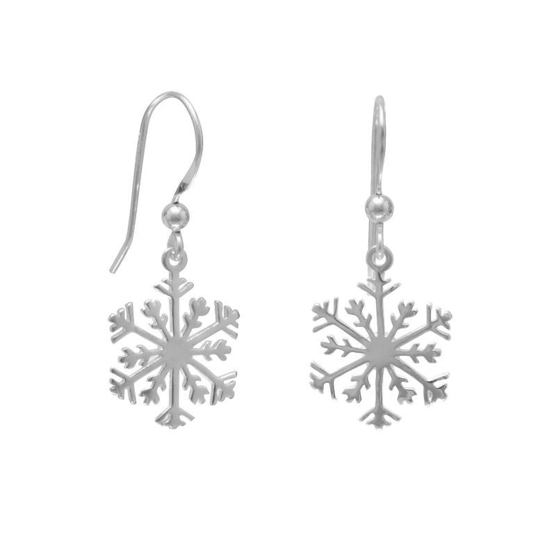 Sterling Silver Snowflake Earrings 1056