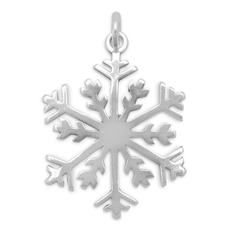 Sterling Silver Snowflake Pendant 5604