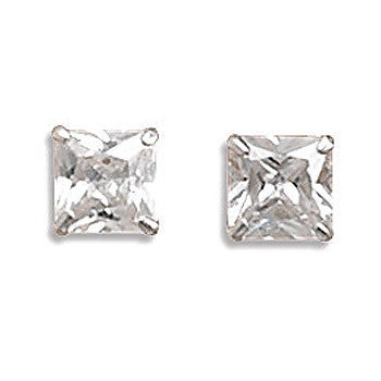 Square Cubic Zirconia Earrings 64085
