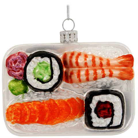 Sushi Platter Glass Ornament