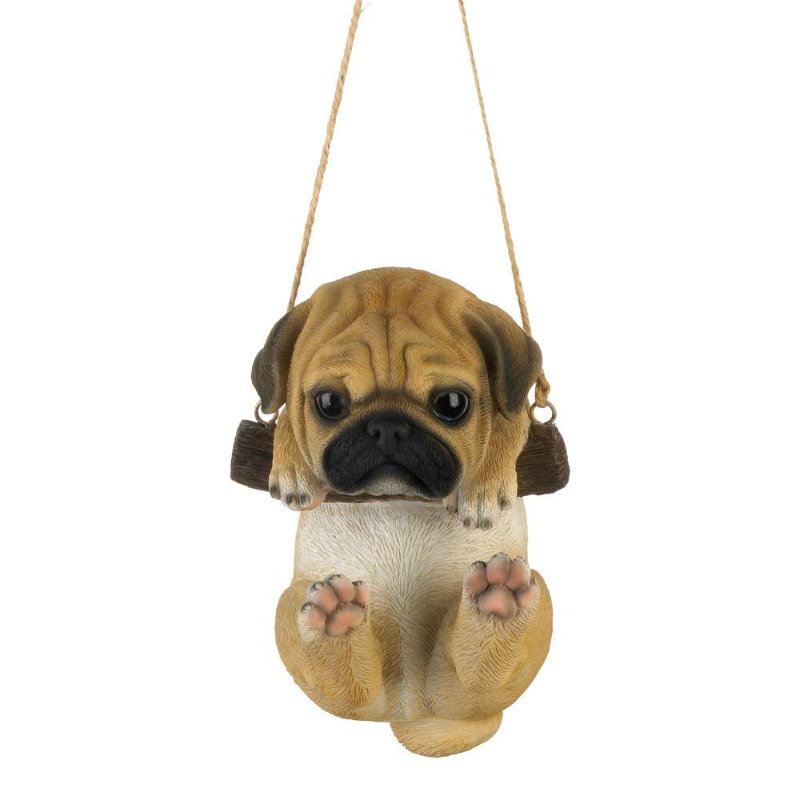 Swinging Pug Puppy Figurine 10018800