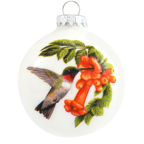 Symbol of the Hummingbird Glass Ornament
