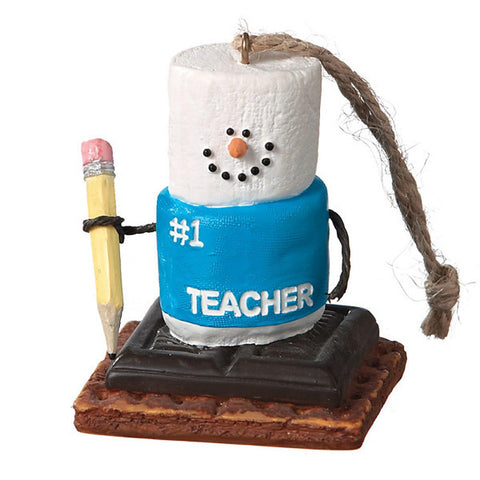 #1 Teacher S'Mores Christmas Ornament