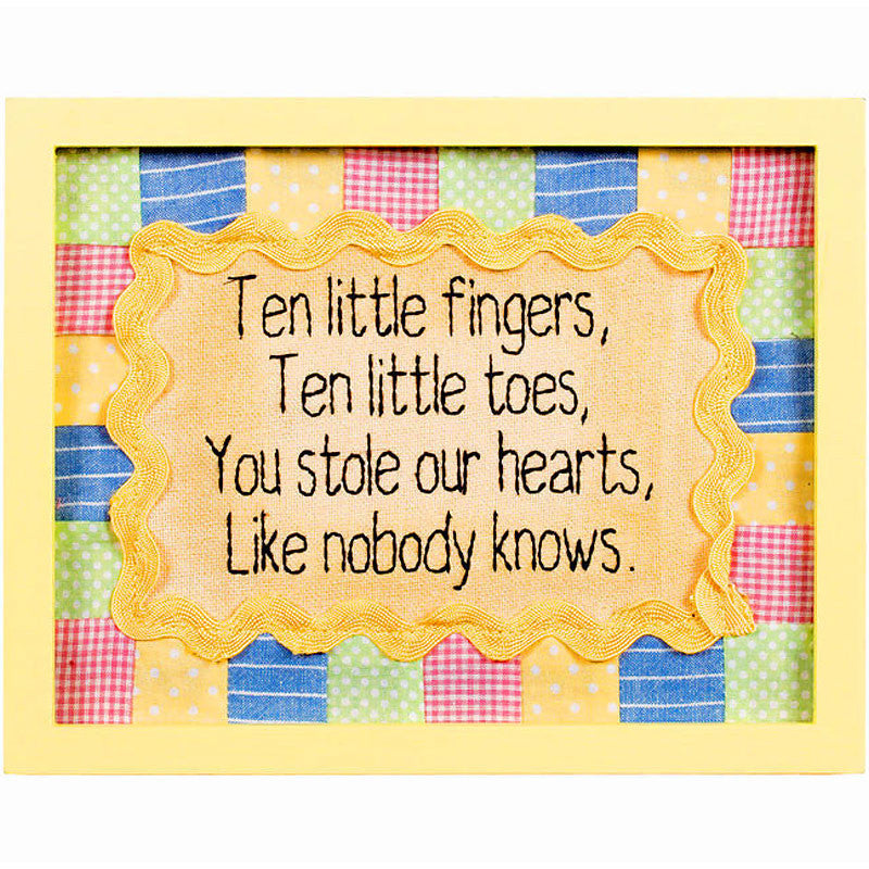 Ten Little Fingers and Toes Framed Stitchery 34163