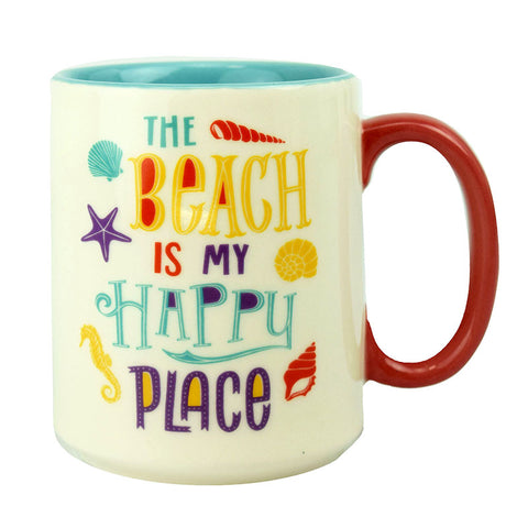 The Beach Is My Happy Place Ceramic Beverage Mug