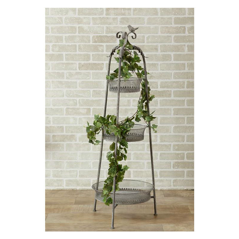 Tiered Metal Standing Baskets Planter 51GR1606