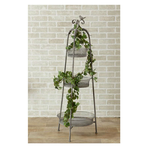 Tiered Metal Standing Baskets Planter