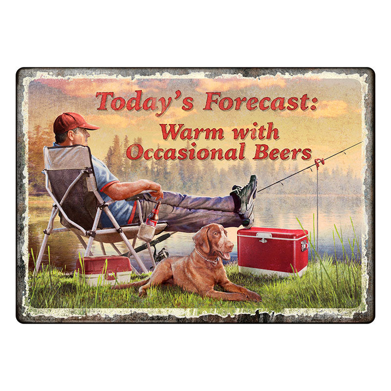 Today's Forecast Fishing Tin Sign 1452