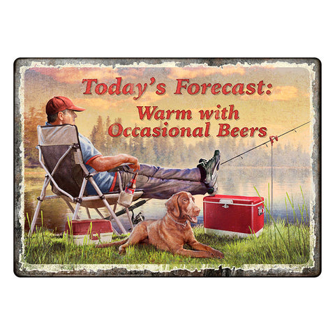 Today's Forecast Fishing Tin Sign