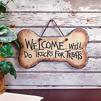 Tricks For Treats Welcome Plaque 33363