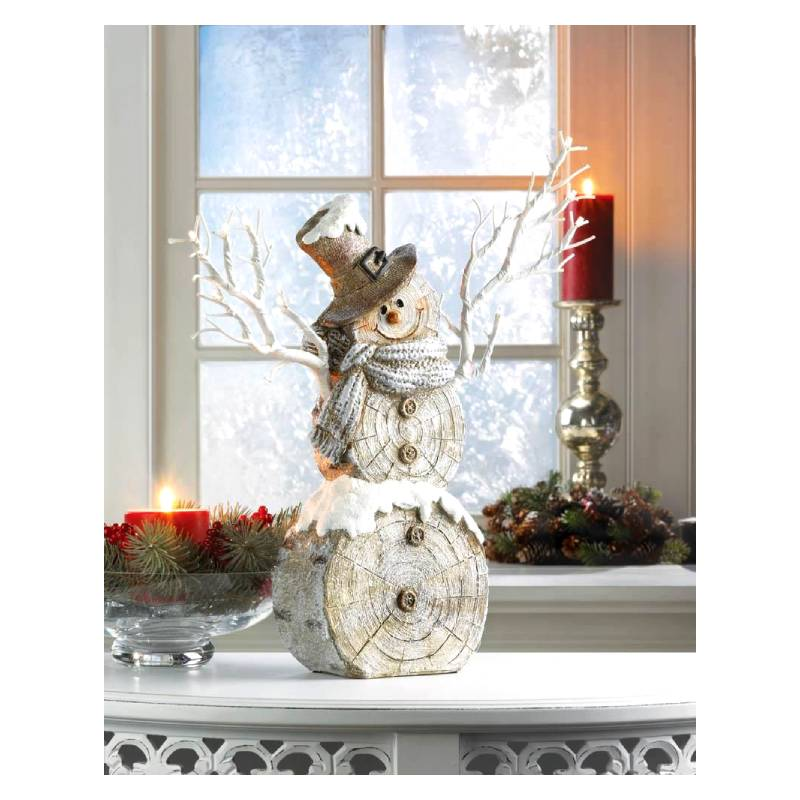 Twig Lights Snowman Figurine 10018583