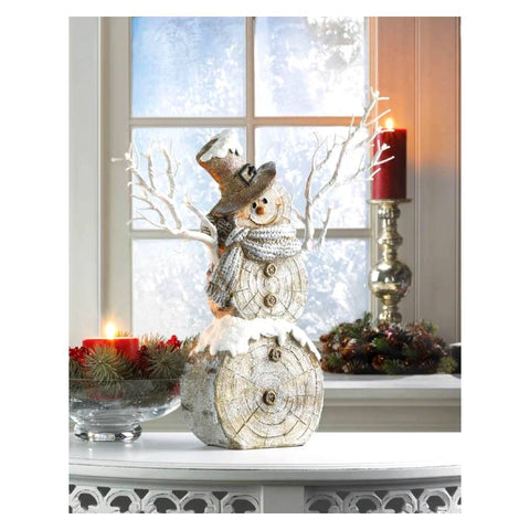 Twig Lights Snowman Figurine