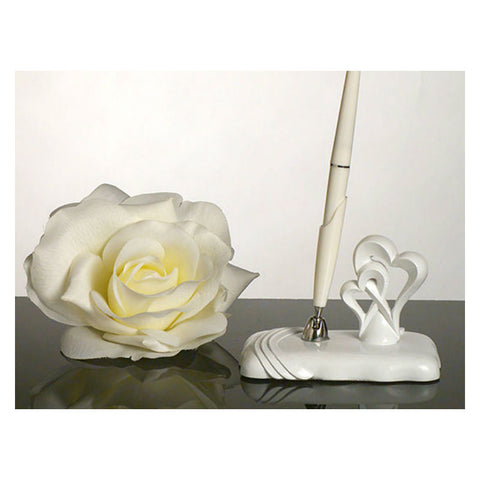Two Hearts Become One Pen and Holder Set