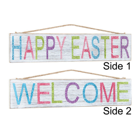 Two Sided Welcome Easter Sign
