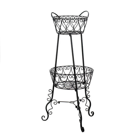 Two Tier Cast Iron Plant Stand