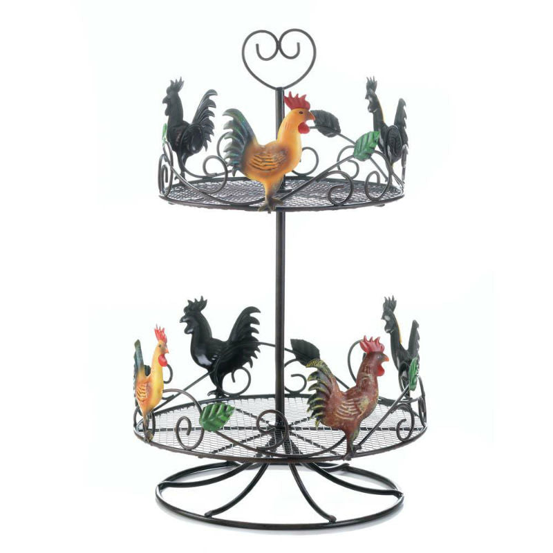 Two Tier Round Rooster Rack 10017558