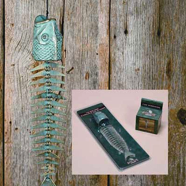 Verdigris Fish Bone Wind Chimes 605