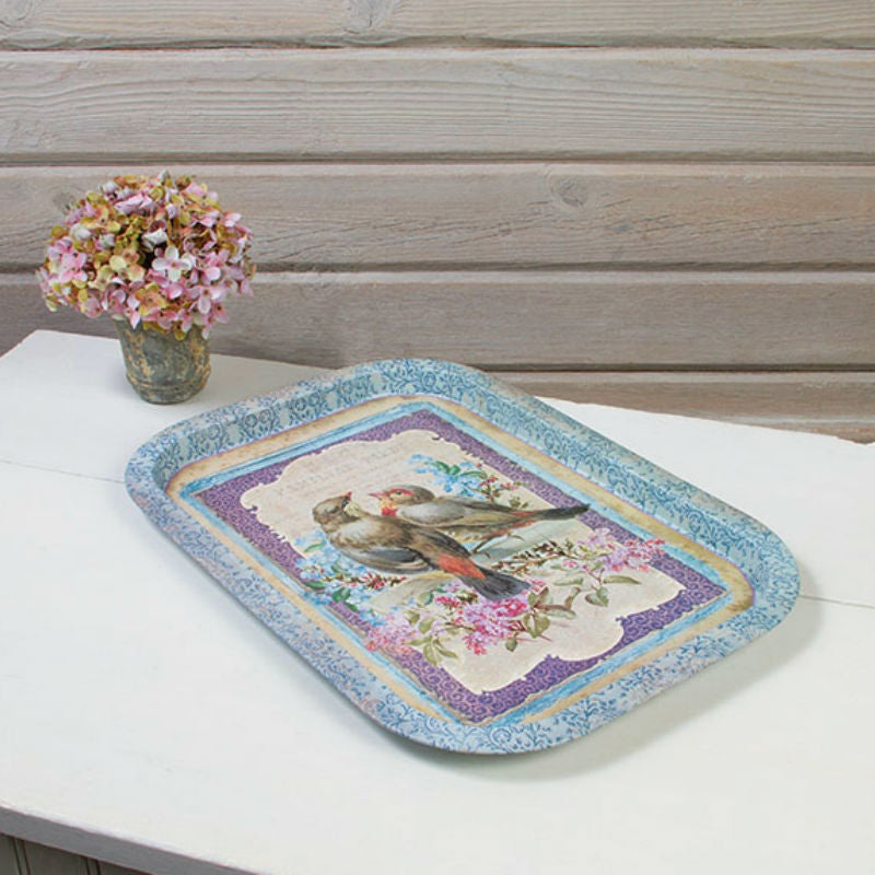 Vintage Birds Food Safe Serving Tray 12870