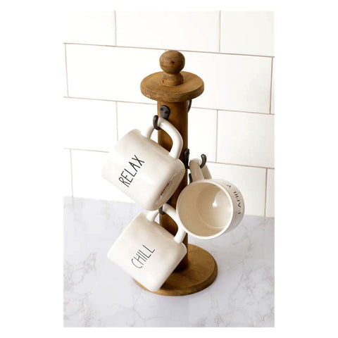 Vintage Spool Cup Holder with Hooks