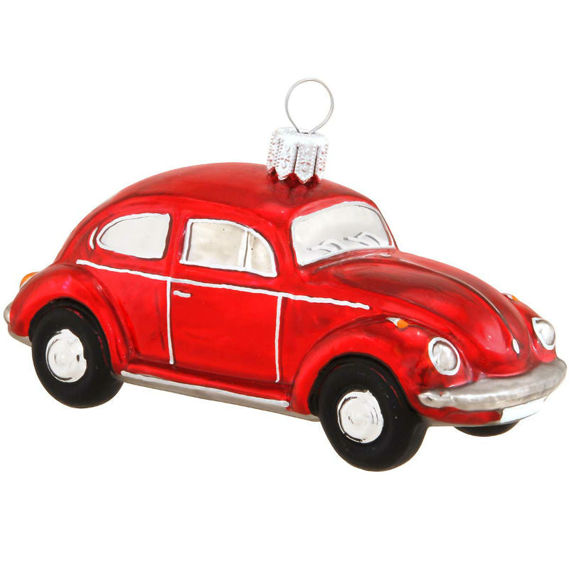 VW Beetle Bug Glass Ornament 1180360